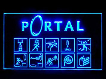 Portal Game Bar Led Light Sign