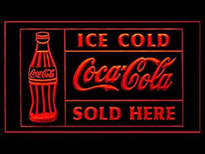 Ice Cold Coca Cola Sold Here Soda Coke LED Light Sign