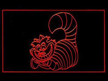 Cheshire cat Alice in Wonderland Bar Pub Led Light Sign