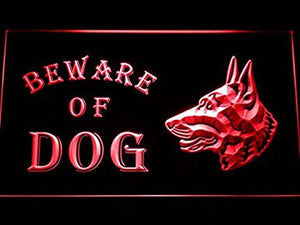C B Signs Beware of Dog LED Sign Neon Light Sign Display
