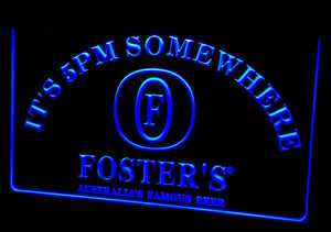 Foster's It's 5 pm Somewhere Neon Sign (Beer Light LED)