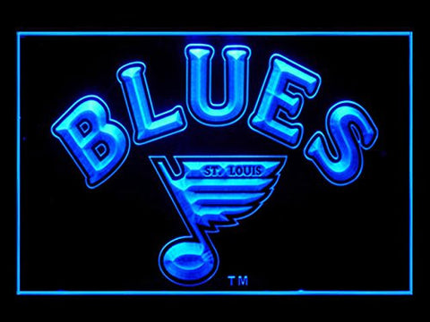 St. Louis Blues Hockey Led Light Sign