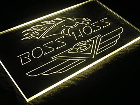 Boss Hoss Neon Sign (Cycles. Motorcycles. Advertising. LED. Light)