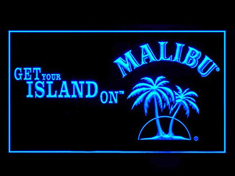 Malibu Rum Neon Sign (Beer Bar. Pub. LED. Light)