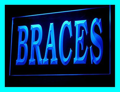 Orthodontist Braces Neon Sign (LED. Light. Display)
