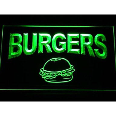 BuW Burgers Cafe Neon Light Sign. lighting direct cool night lights adult nig...