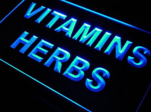 Vitamins Herbs Neon Light Sign
