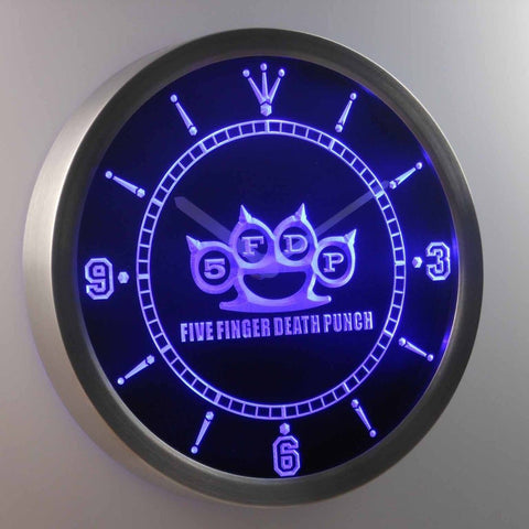 5FDP Five Finger Death Punch 3D Neon Sign LED Wall Clock NC0164-B