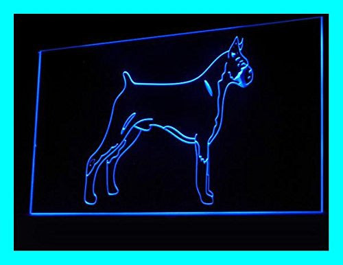 C B Signs Boxer Dog LED Sign Neon Light Sign Display
