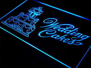 BuW Wedding Cakes Shop Bar Bakery Neon Light Sign. blinking led lights cool n...