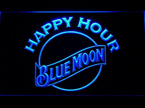 Man Cave Happy Hour Moon LED Neon Sign - Light Sign