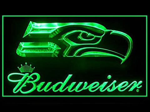 Budweiser Seattle Seahawks Neon Sign (LED. Light)