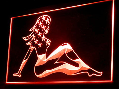 US Flag Sexy Girl Neon Sign (Nude Show LED Light)