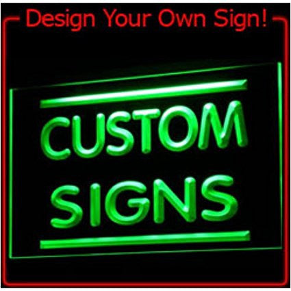 Custom Signs/ Neon Signs/ LED Signs - 400x300mm. 7 color choice