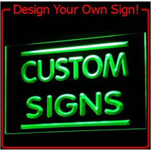 Custom Signs/ Neon Signs/ LED Signs - 300x210mm. 7 color choice