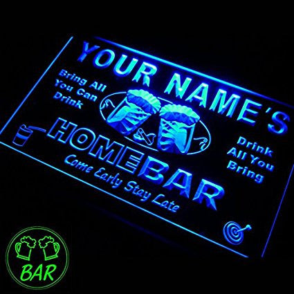 Personalized Custom Home Bar Beer Neon Sign W12xH8.5'