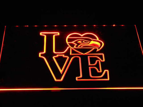 LOVE Seattle Seahawks LED Neon Sign