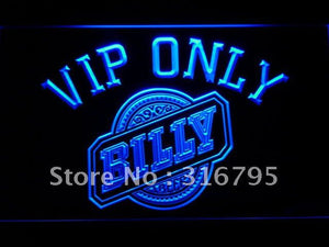 VIP Only Billy Beer LED Neon Sign