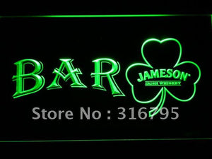 BAR Shamrock Jameson LED Neon Sign