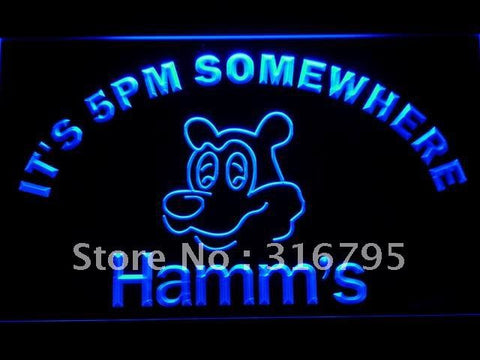 It's 5 pm Somewhere Hamm's Beer LED Neon Sign