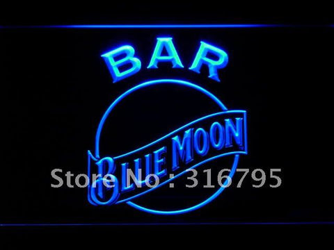 BAR Blue Moon Beer LED Neon Sign
