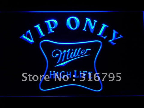 VIP Only Miller Hight Life Beer LED Neon Sign