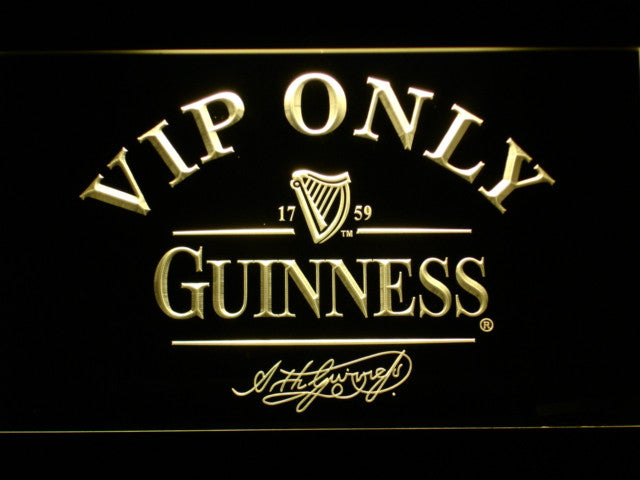VIP Only Guinness Beer LED Neon Sign