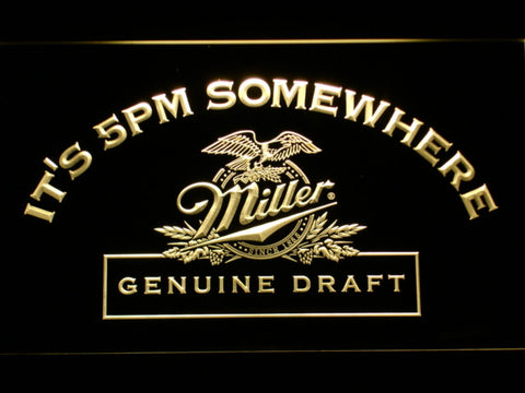 It's 5 pm Somewhere Miller Beer LED Neon Sign