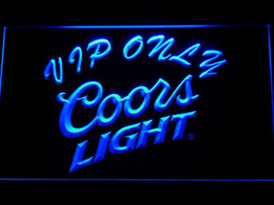 Coors Light VIP Only Bar Beer LED Neon Sign