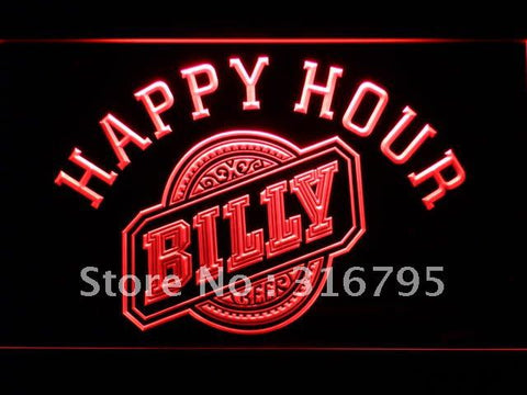 Billy Beer Happy Hour Bar LED Neon Sign