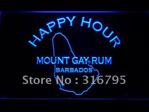 Mount Gay Rum Barbados Happy Hour LED Neon Sign