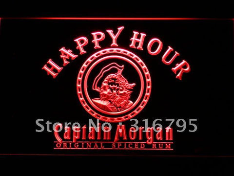 Captain Morgan Happy Hour Bar LED Neon Sign
