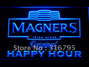 Magners Irish Cider Happy Hour Bar LED Neon Sign
