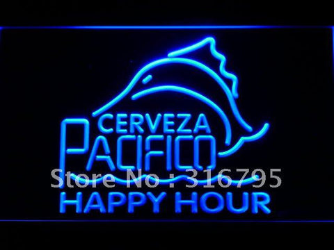Cerveza Pacifico Beer Happy Hour Bar LED Neon Sign