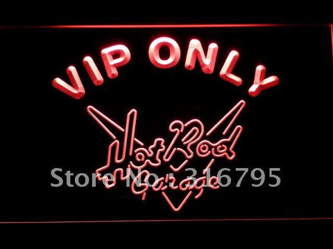 VIP Only Hot Rod Garage LED Neon Sign
