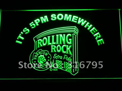 Rolling Rock It's 5 pm Somewhere LED Neon Sign