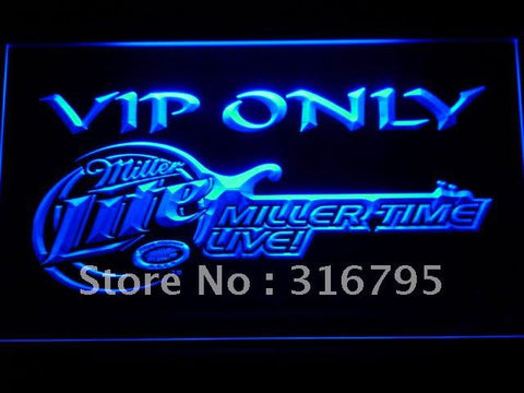 Miller Time Live VIP Only Beer LED Neon Sign