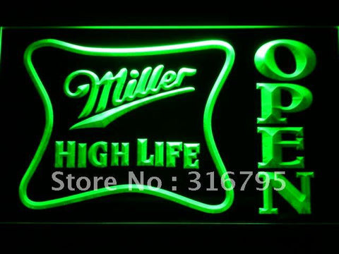 Miller High Life OPEN Bar LED Neon Sign