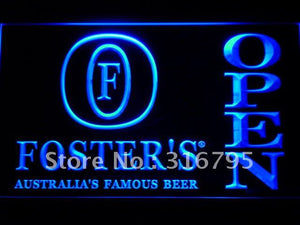 Foster Beer OPEN Bar LED Neon Sign