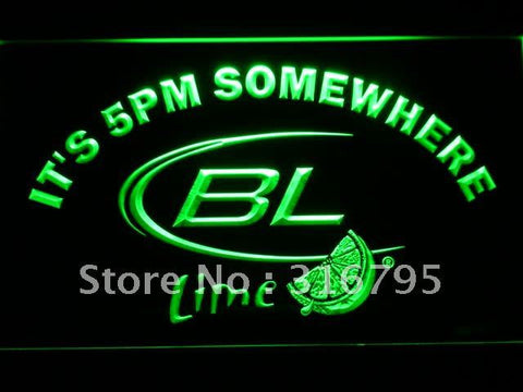 It's 5 pm Somewhere Bud Lite Lime LED Neon Sign