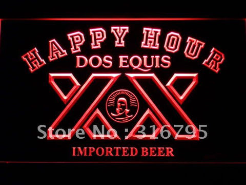 Dos Equis Beer Happy Hour LED Neon Sign