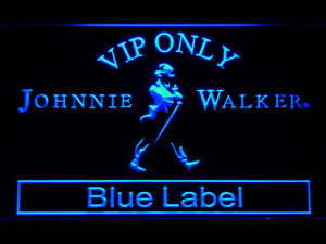 VIP Only Johnnie Walker Blue Label LED Neon Sign