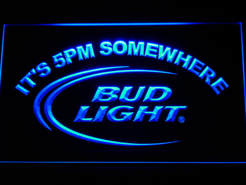 Bud Light It's 5 pm Somewhere Bar LED Neon Sign