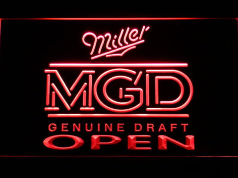 Miller MGD Beer OPEN Bar LED Neon Sign