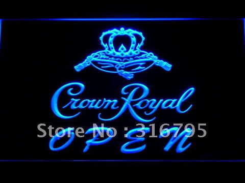 Crown Royal Beer OPEN Sign LED Neon Sign