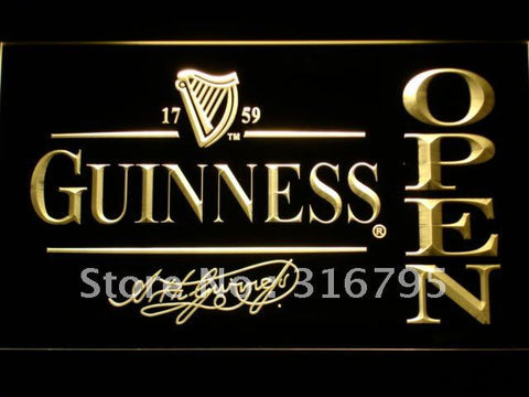 Guinness Beer OPEN Bar LED Neon Sign