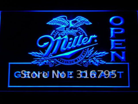 Miller Draft Beer OPEN Bar LED Neon Sign