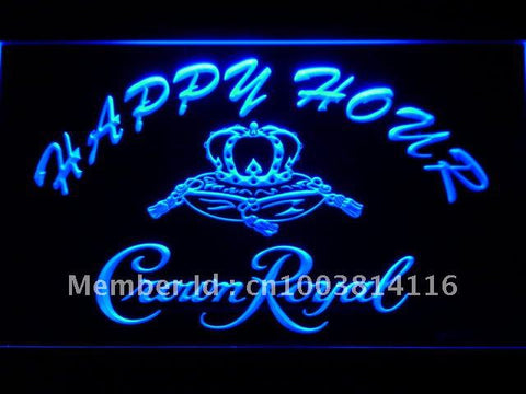 Crown Royal Beer Happy Hour Bar LED Neon Sign