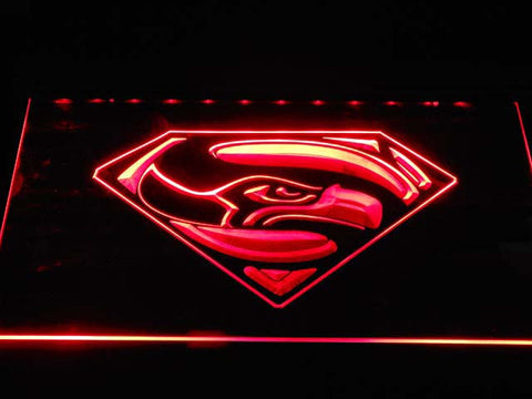 Seattle Seahawks Super Hero LED Neon Sign