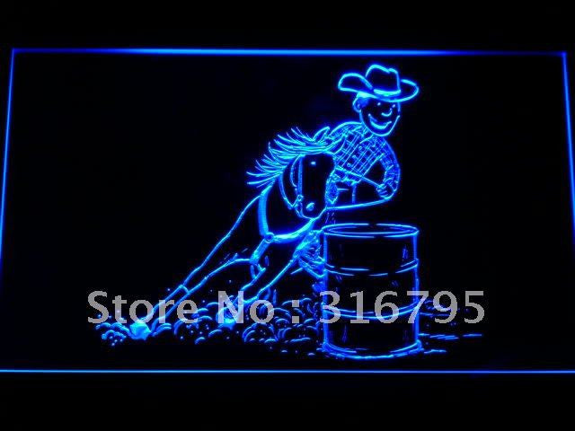 Barrel Racing Horse LED Neon Sign